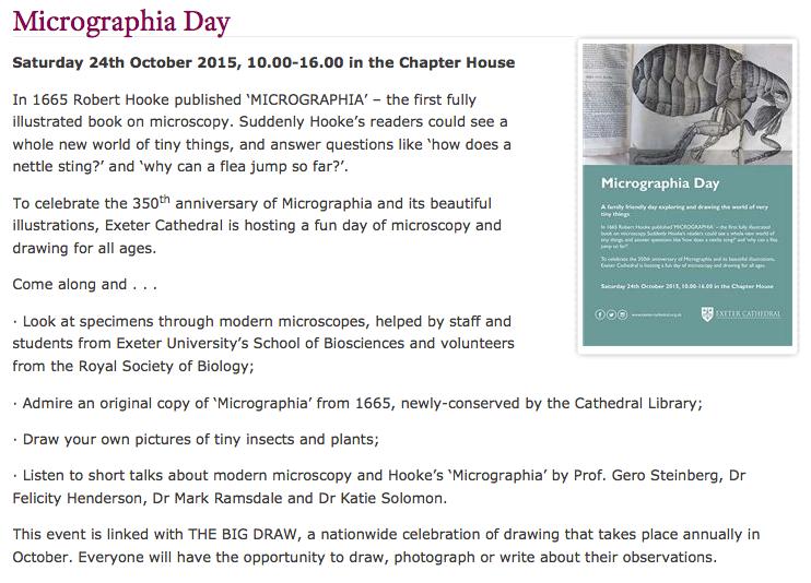 Micrographia day