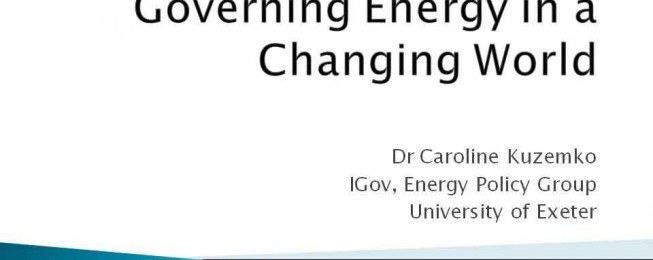 Presentation: Governing Energy in a Changing World