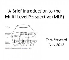 Presentation: A Brief Introduction to the Multi-Level Perspective (MLP)