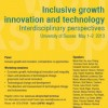 Inclusive Growth, Innovation and Technology: Interdisciplinary Perspectives