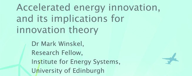 Panel 2: The rise of accelerated energy innovation and its implications for innovation theory