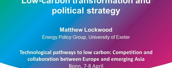 Presentation: Low-carbon transformation and political strategy