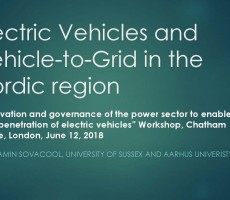 Presentation: Electric Vehicles and Vehicle-to-Grid in the Nordic region