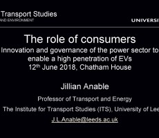 Presentation: The role of consumers