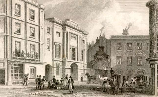 The New London Hotel, Exeter, 1830 [https://projects.exeter.ac.uk]