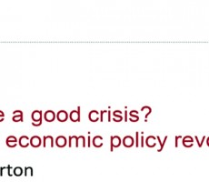 Panel 3: Why Waste a Good Crisis? Making an Economic Policy Revolution