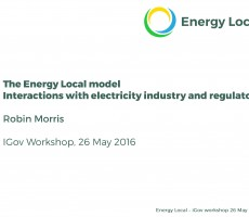 Presentation: Robin Morris, Energy Local