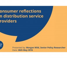 Presentation: Morgan Wild, Citizens Advice