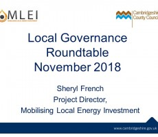 Presentation: Sheryl French, Cambridge County Council