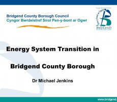 Presentation: Dr Micheal Jenkins, Bridgend County Borough Council