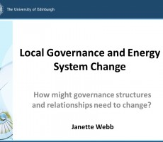 Presentation: Jan Webb, Edinburgh University